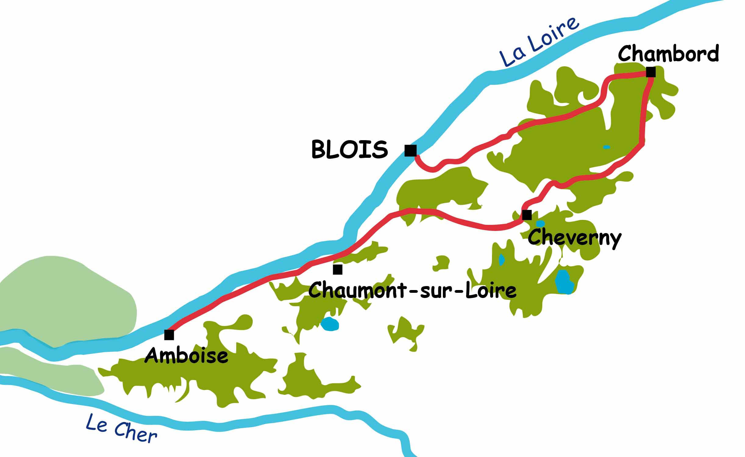 3-day escape between Blois and Amboise