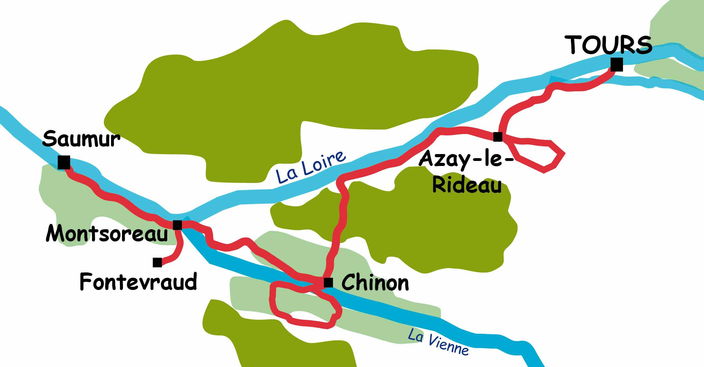A cycling week from Tours to Saumur