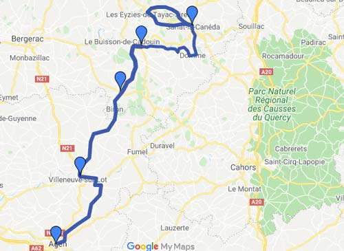Agen to Sarlat Cycling holiday