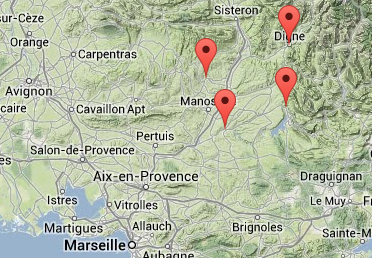 Carpentras France Map.Cycling Accommodation And Cycling Holidays In France Freewheeling