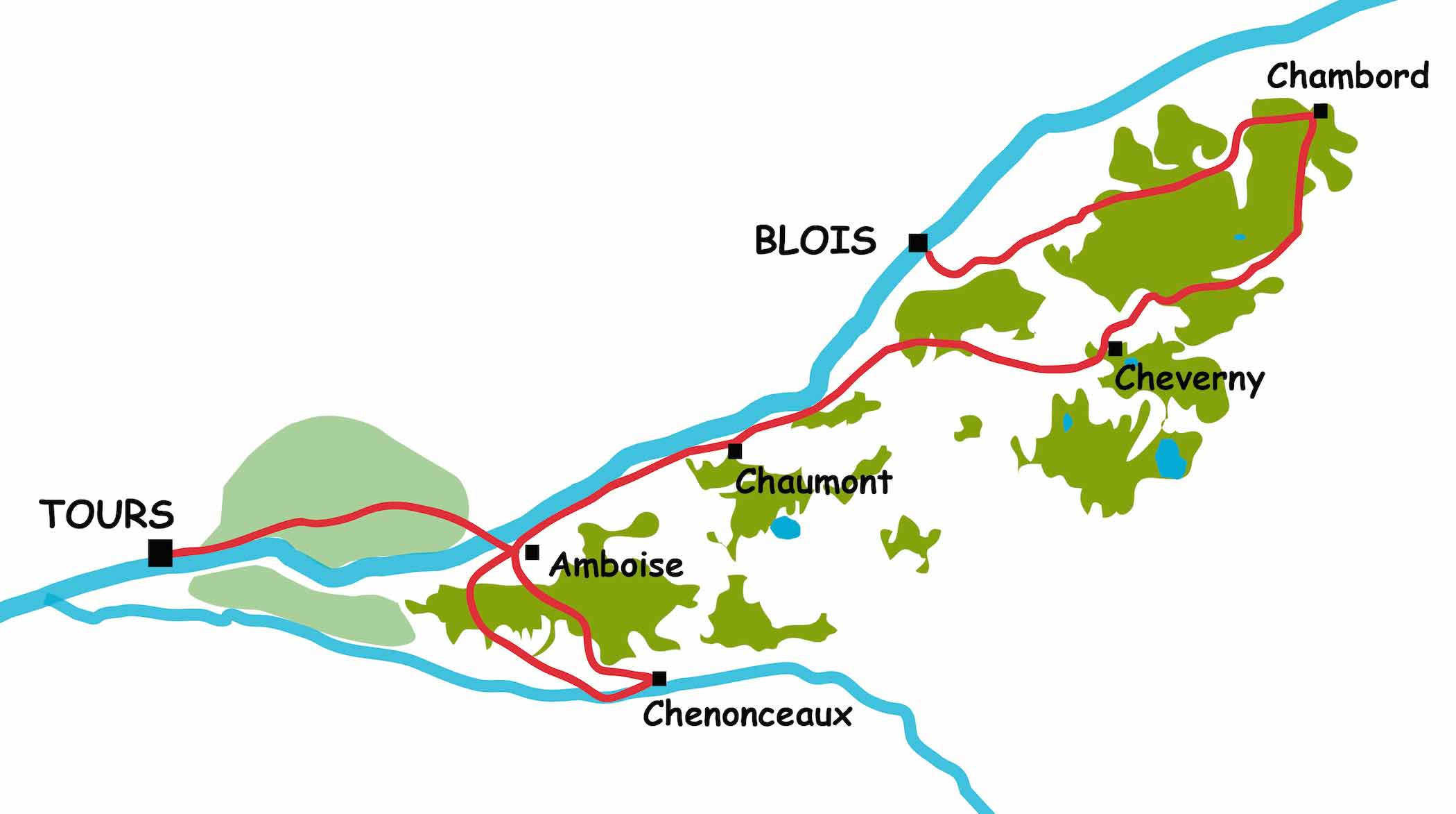 A cycle tour amongst the Loire valley châteaux from Blois to Tours