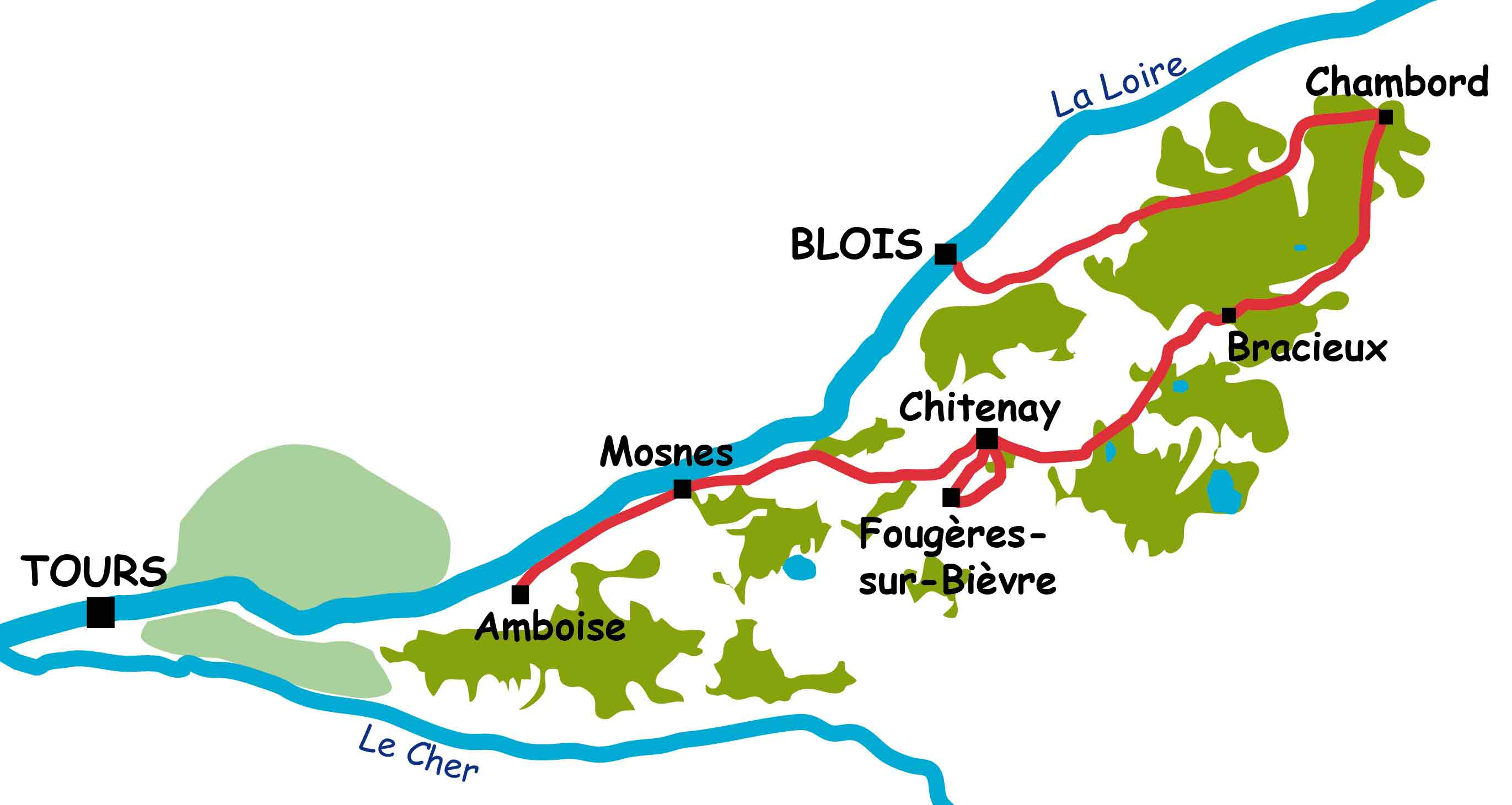 Family cycling week Blois to Amboise