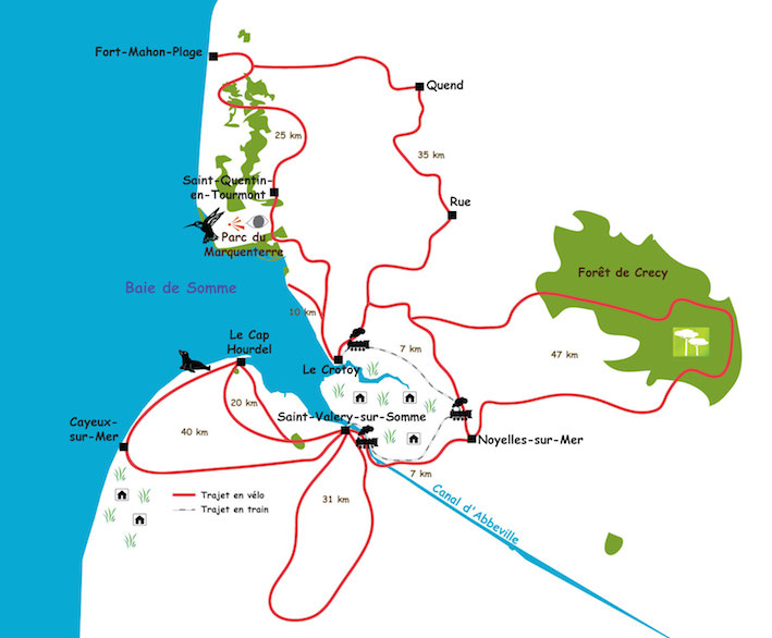 Soomme Bay cycling map