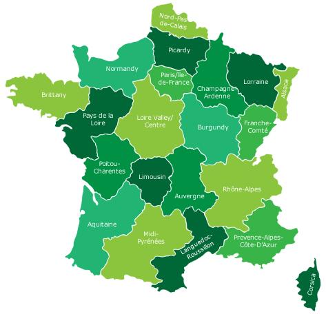 Map Of Northern France Coastline.Bike Routes In France Freewheeling France