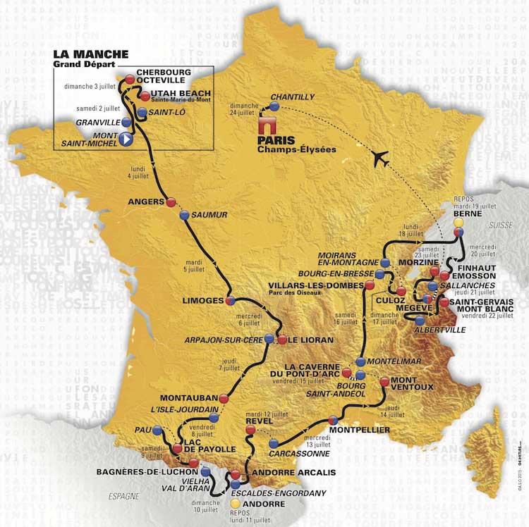 Tour De France  Stage  Map