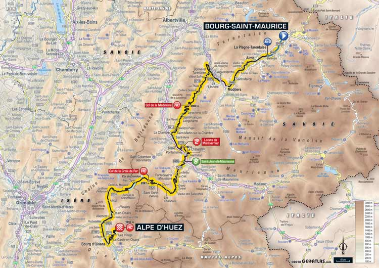 2018 Tour de france Stage 12 Bourg Saint-Maurice to Alpe d'Huez