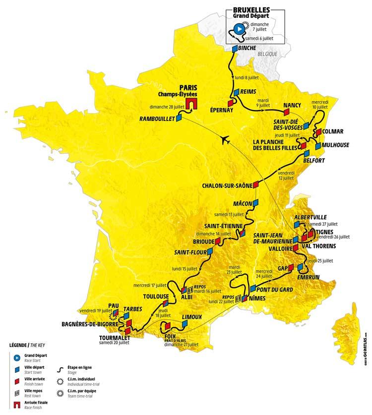 Tour De France 2020 Stages.Tour De France 2019 Route Stage By Stage Guide