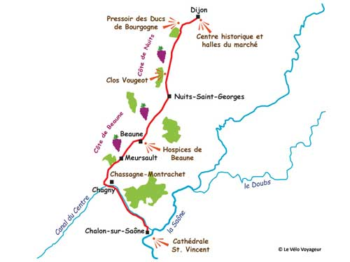3-day bike tour in the wine region of Burgundy