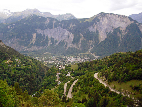 Bourg d'Oisans from Alpe d'Huez