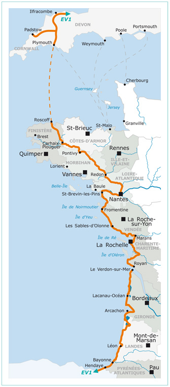 Map Of France Vendee Region.La Velodyssee Bike Route Freewheeling France