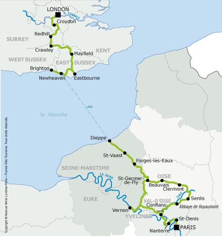 Cycling The Avenue Verte From London To Paris Freewheeling France - Paris map outline