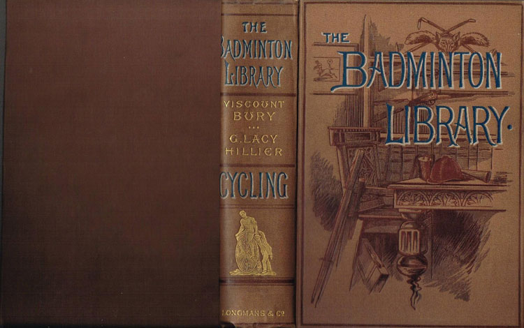 Cover from the Badminton Library of Sports and Pastimes Cycling Book