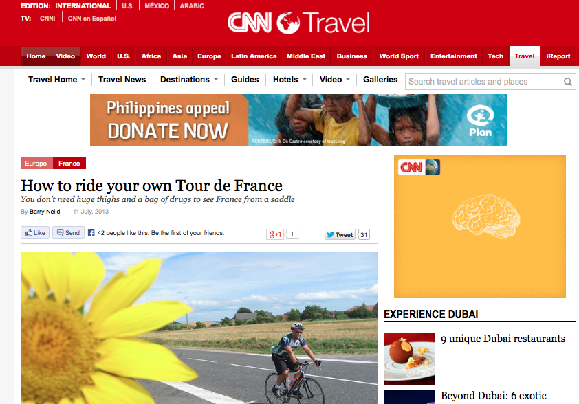 CNN tour de France article