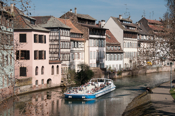 The River Rhine flows through Strasbourg by I Bike Strasbourg