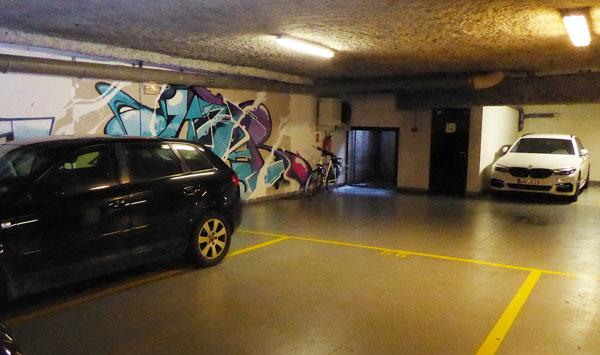 Car park at Campanile Paris 19