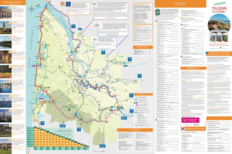 Bordeaux cycling map