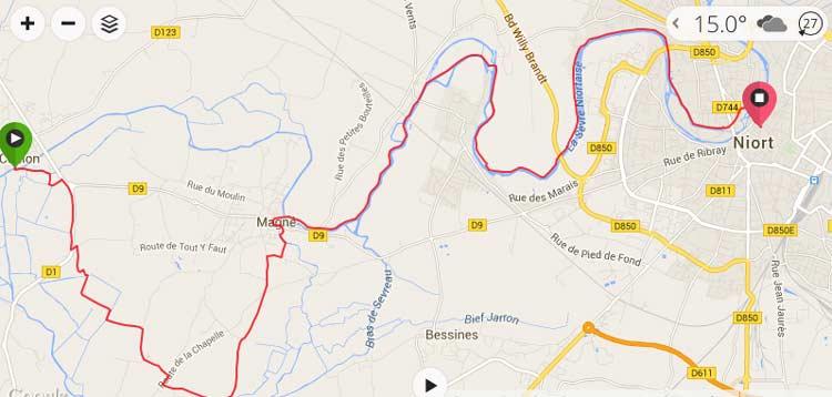 Arcais To Niort On The La Velo Francette Freewheeling France