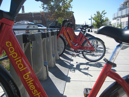 Washington DC's hugely popular Capital bike share scheme. Photo: Leage of American Bicyclists