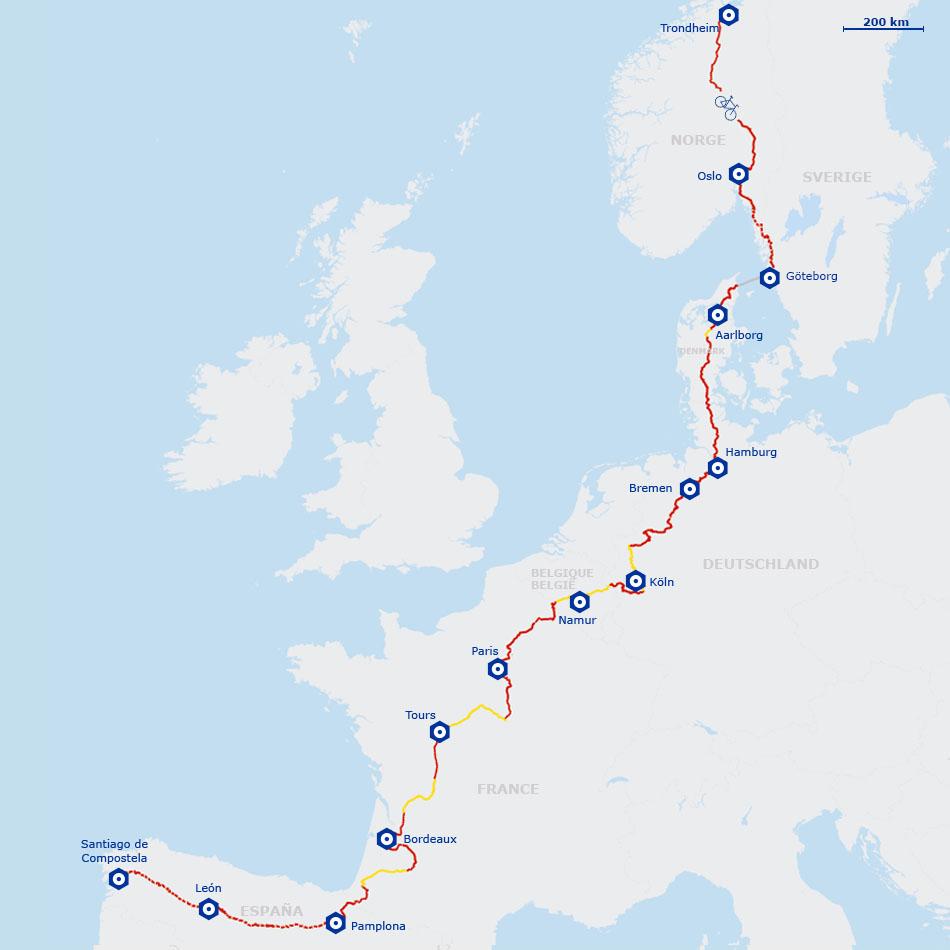 Map Of France 1500.Eurovelo 3 The Pilgrims Route La Scandiberique Freewheeling