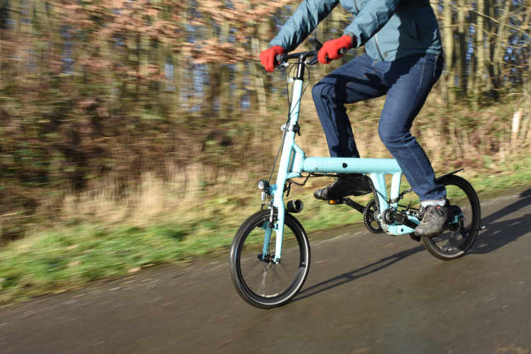 FLIT 16 folding bike review riding