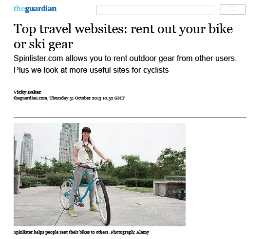 The Guardian top travel websites