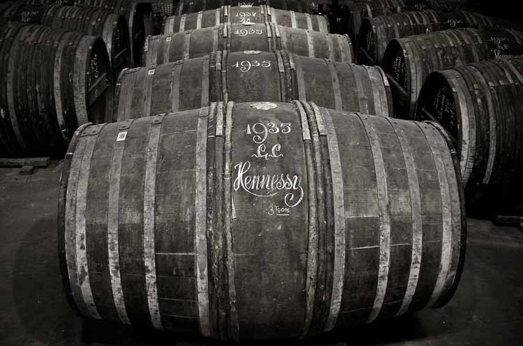 The famous cognac barrels of Hennessy. Photo: Katdaned