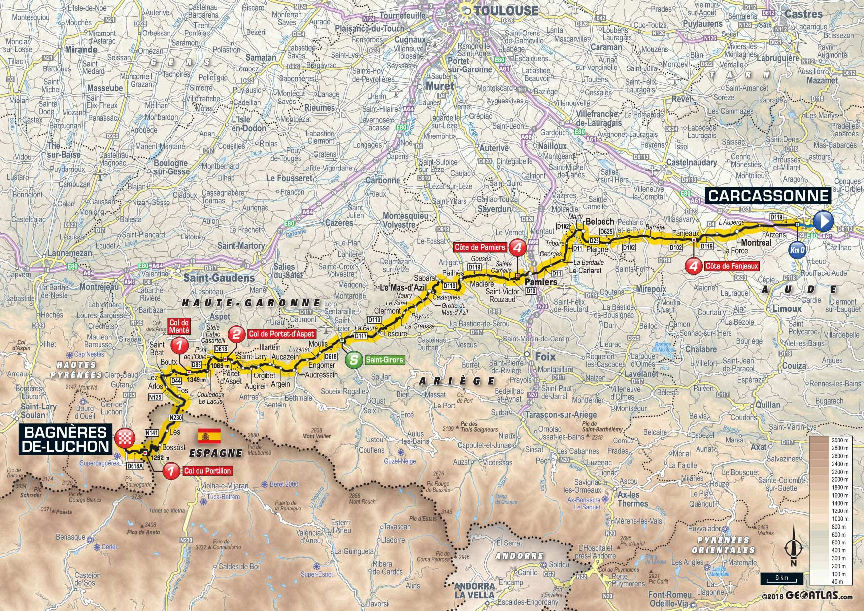 Map Of France Carcassonne.2018 Tour De France Route Freewheeling France