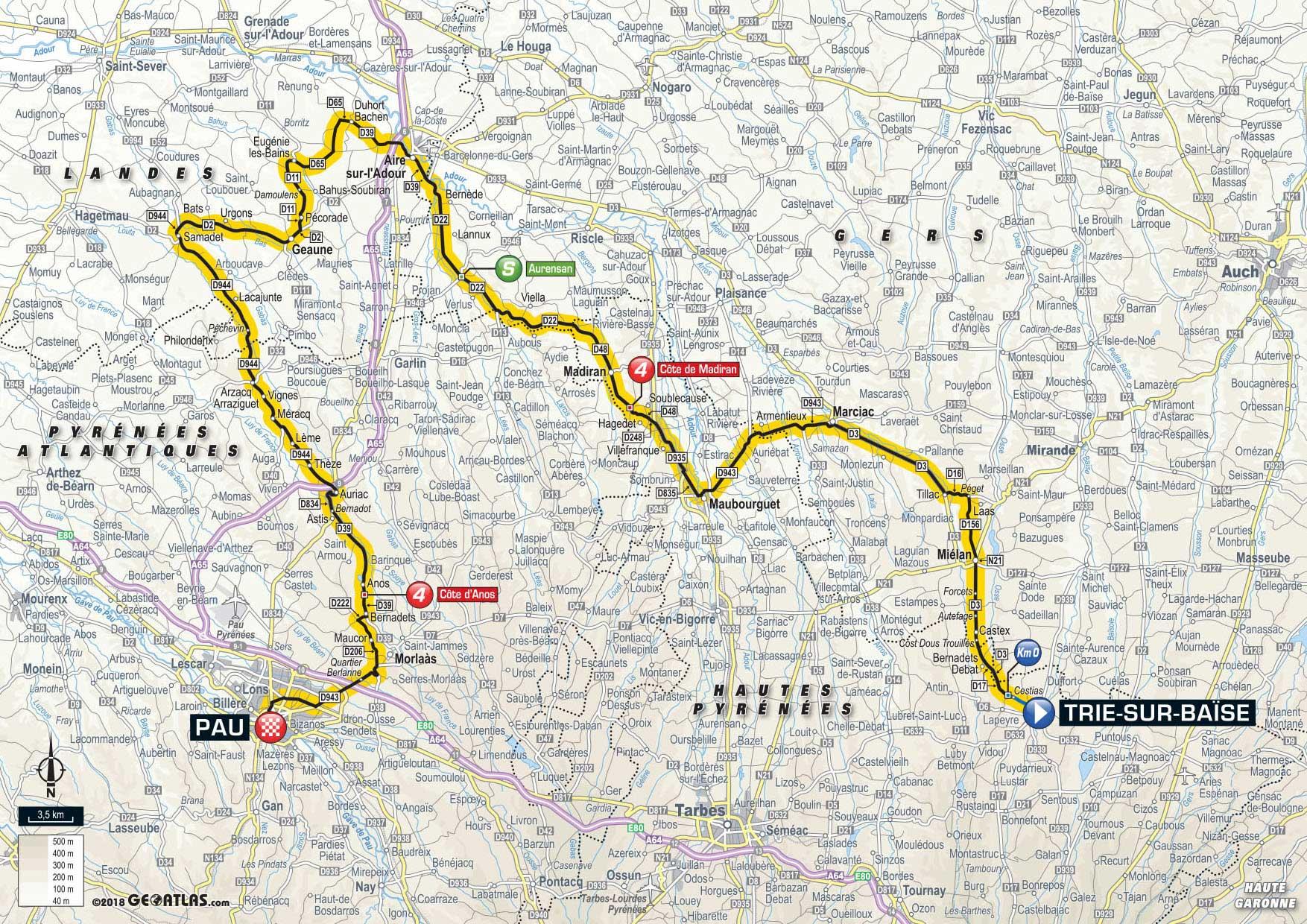 2018 Tour De France Route Freewheeling France