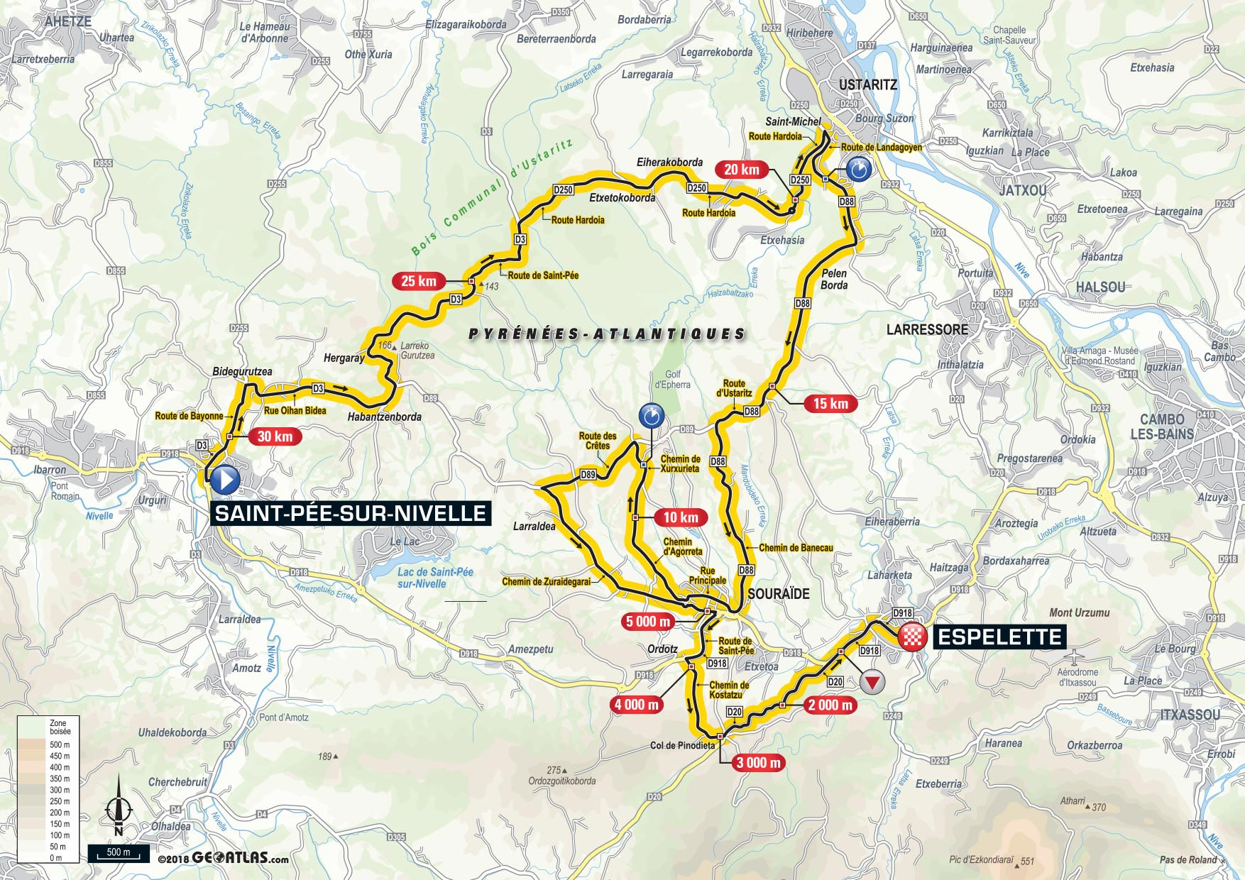 Tour De France Stage  Map