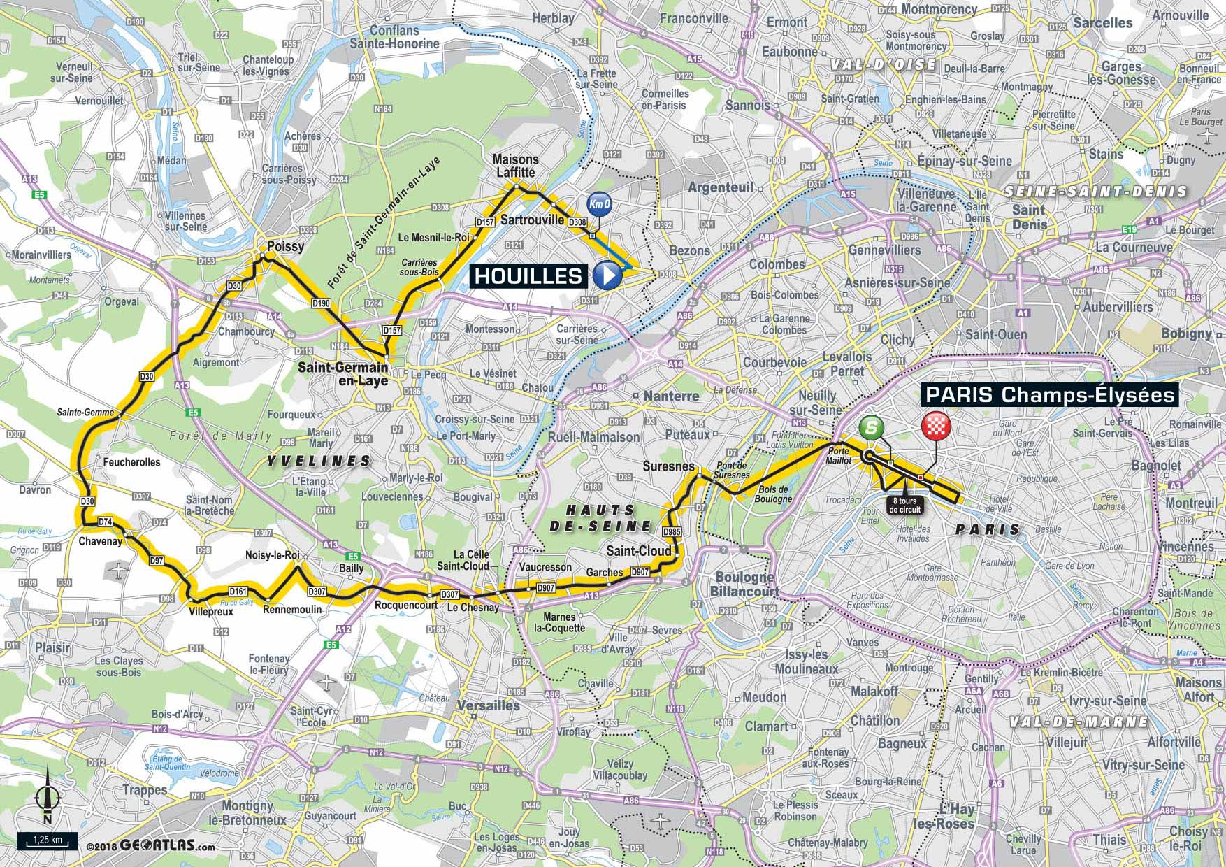 Stage  Tour De France Map