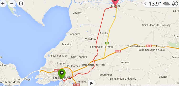 Map Of France La Rochelle.La Rochelle To Arcais On The La Velo Francette Freewheeling France