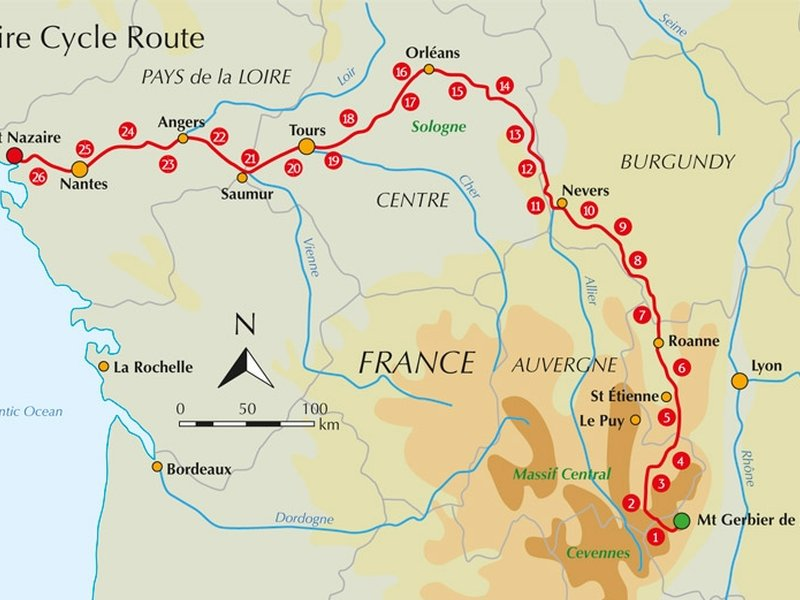 Guidebook Review Cycling The Loire Cycle Route border=