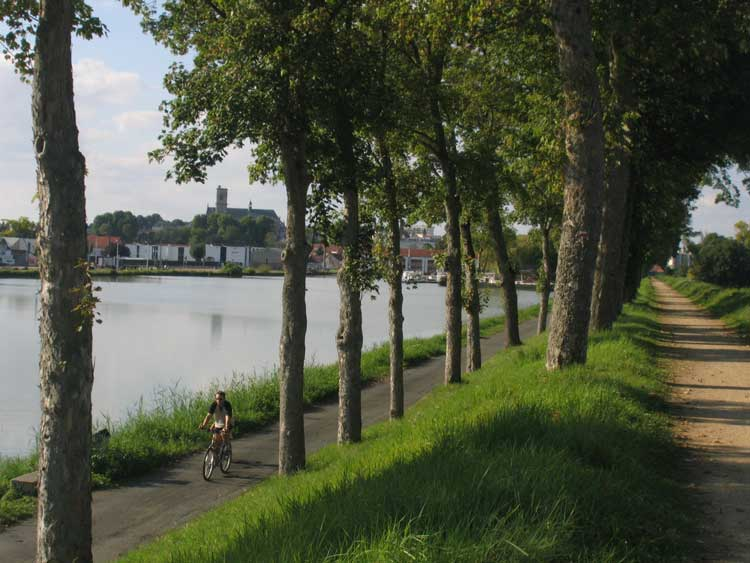 Loire river cycling route