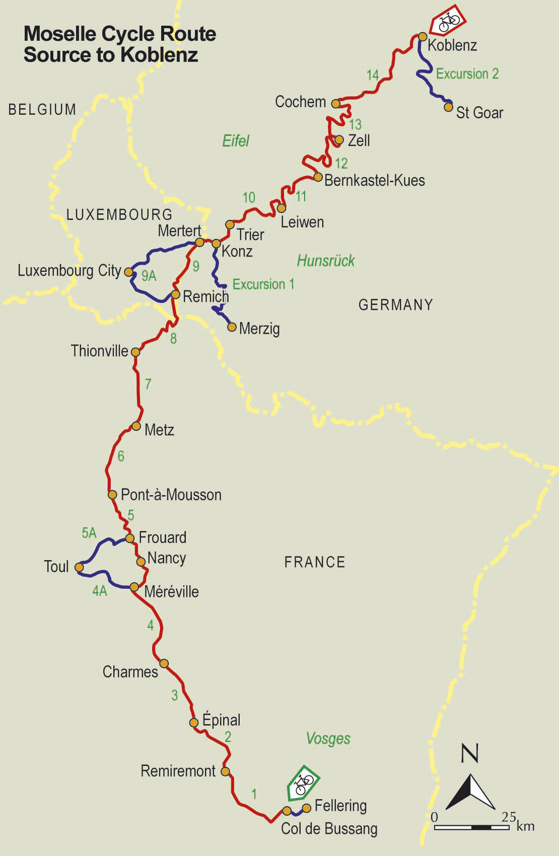Moselle River Bike Route Freewheeling France