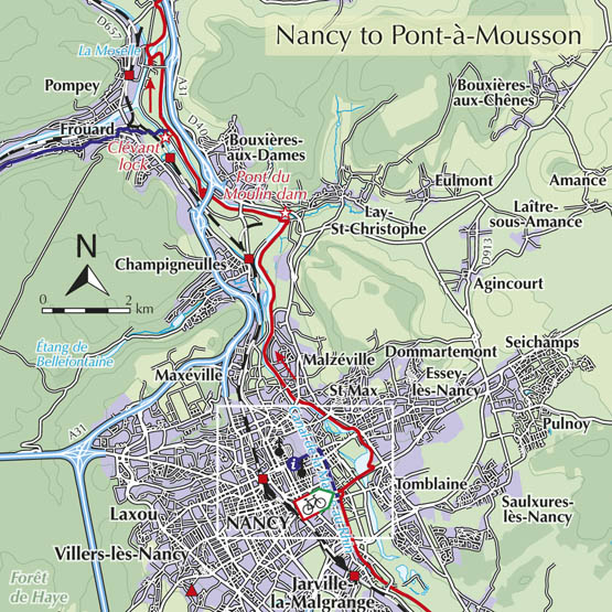 Nancy to Pont-a-Mousson