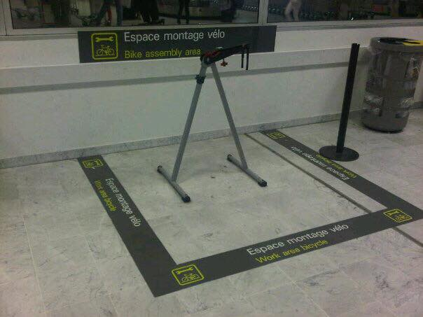 Nice airport bike area