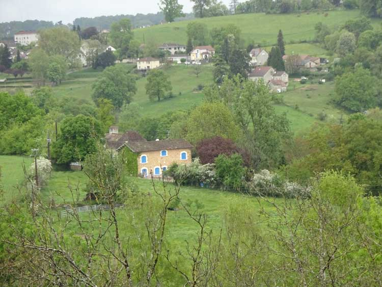 Thiviers to Perigueux bike route