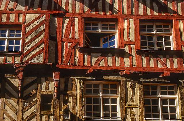 Rennes, old town. By Jacqueline Poggi.