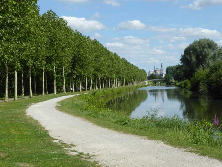 Approaching Amiens along the Somme Canal