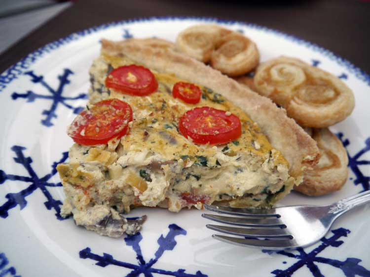 Spinach and Mushroom Quiche to power cycling in France
