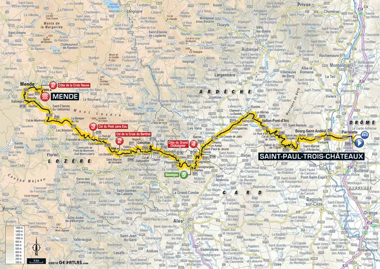 2018 Tour de France Stage 14 Saint-Paul Trois Chateaux to Mende