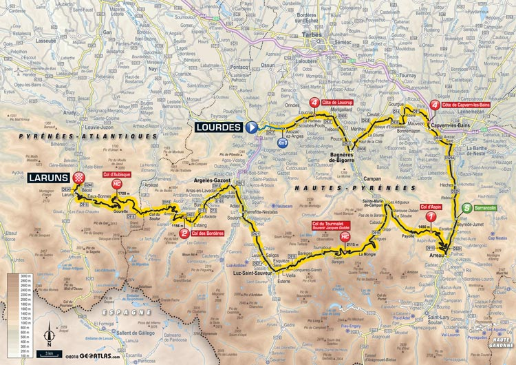 2018 Tour de France Stage 19 Lourdes to Laruns