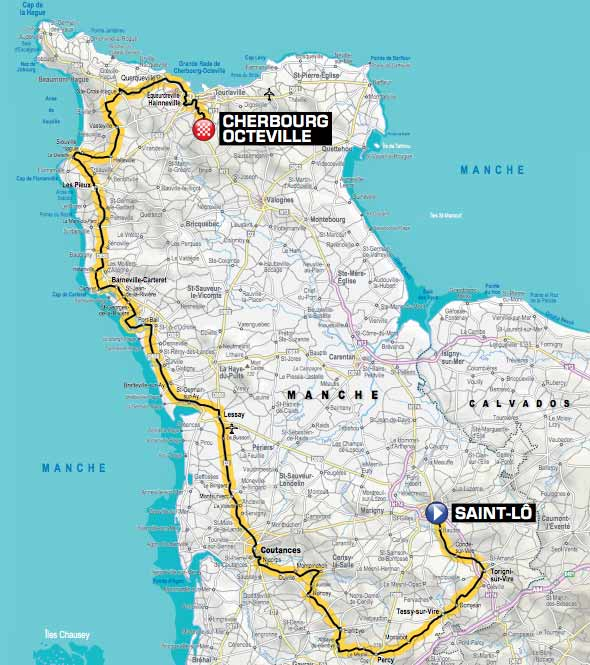 Stage 2 of the 2016 Tour de France Cherbourg-Octeville