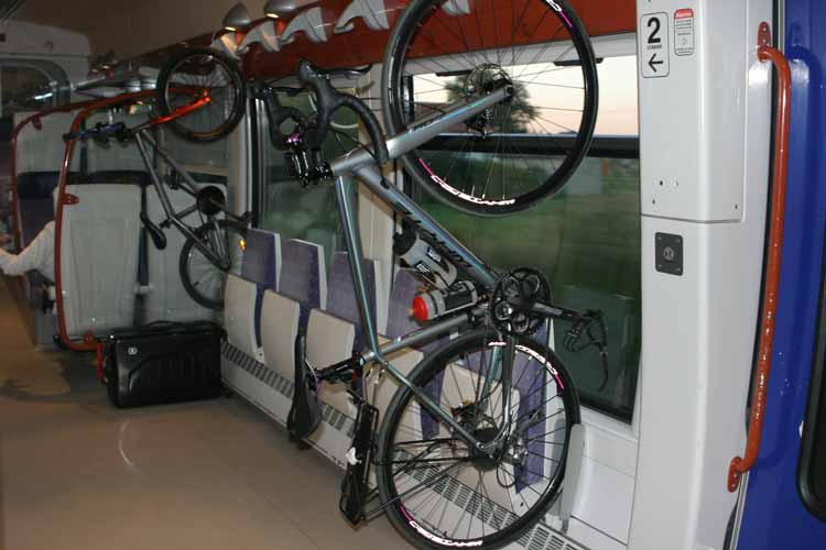 Bicycle on TER train France