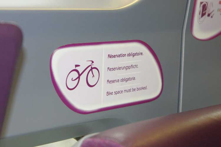 TGV bike sign