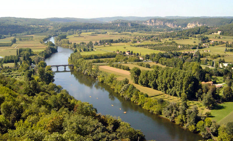 The Dordogne from Domme by Bas van Gaalen