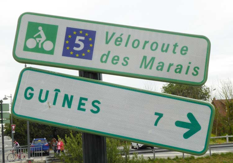 The Coulogne-Guines greenway is also part of the developing Eurovelo 5