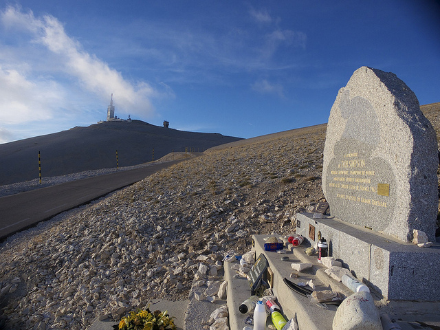 Tom Simpson memorial on Ventoux.