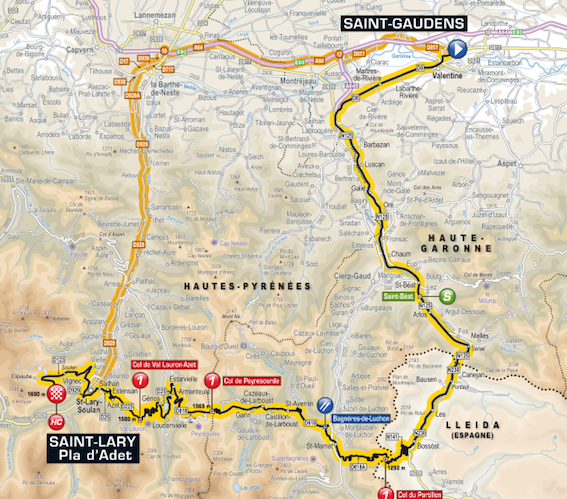Stage 17 - 124.5km from Saint Gaudens to Saint-Lary Pla d'Adet, Wednesday, July 23
