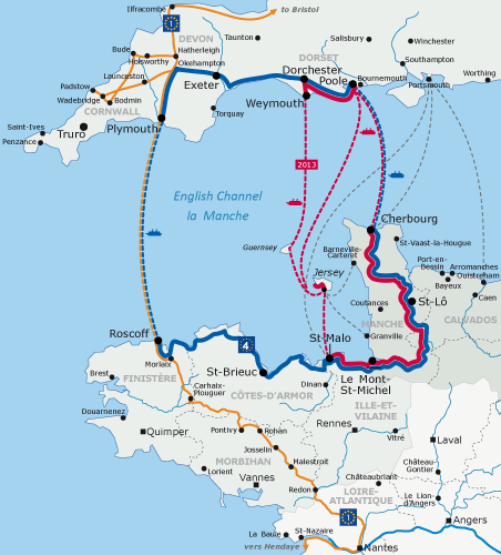 Tour de Manche rike route between England and France